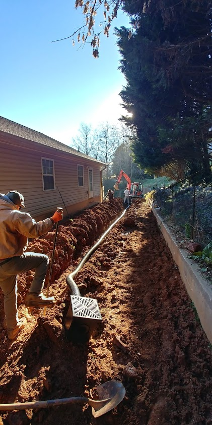 Sokol Landscaping at Work Drainage and Irrigation